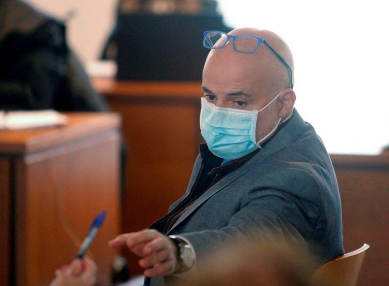 """José Manuel López Pérez """"Coté"""", durante su declaración en el banquillo de la Audiencia Provincial de A Coruña"""
