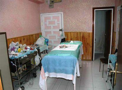 Sala de intervenciones quirúrgicas de la clínica de la calle de Coslada.