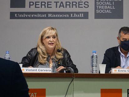 Violant Cervera en el fórum de la Fundació Pere Tarrés