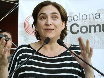 Ada Colau, al Mercat de Provençals, en Barcelona.