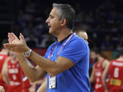 Igor Kokoskov, en la final del Eurobasket, en septiembre.