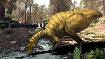 Recreación del 'Portellsaurus sosbaynati', hallado en Castellón.