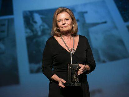 La escritora española Carme Riera, galardonada con el Premio Atlántida 2019.