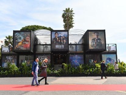 EL MIPTV, el mercado internacional de productos televisivos que cada año se celebra en Cannes, en 2019.