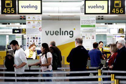 Mostradores de facturación de Vueling