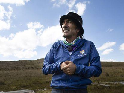 El dirigente indígena Yaku Pérez, el año pasado en el páramo de Quimsacocha en Ecuador.