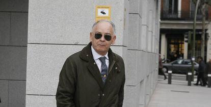 El comisario Eugenio Pino, tras comparecer en la Audiencia Nacional.
