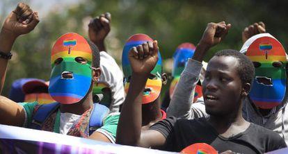 Protesta en Kenia contra la ley antihomosexual de Uganda el 10 de febrero