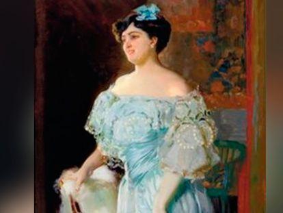Imagen del 'Retrato de la tiple Isabel Brú', que fue pintado por Joaquín Sorolla en 1904.