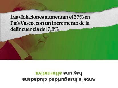 Modelos de sobres de Vox País Vasco emitidos para las elecciones autonómicas del 12 de julio de 2020.