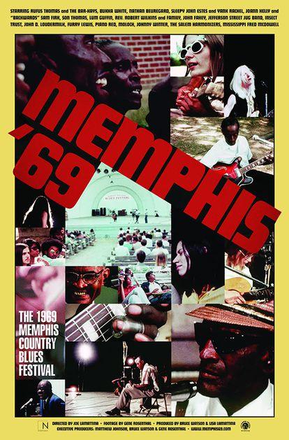 Carátula del DVD 'Memphis '69: the 1969 Memphis Country Blues Festival'.