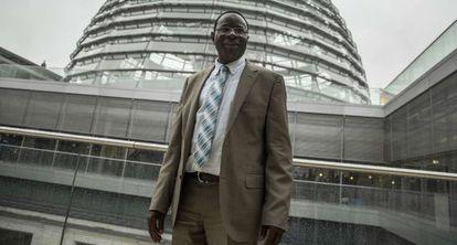 El parlamentario Karamba Diaby, en el Reichstag, ayer.