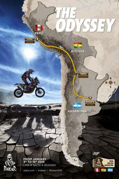 Cartel promocional del Dakar 2016