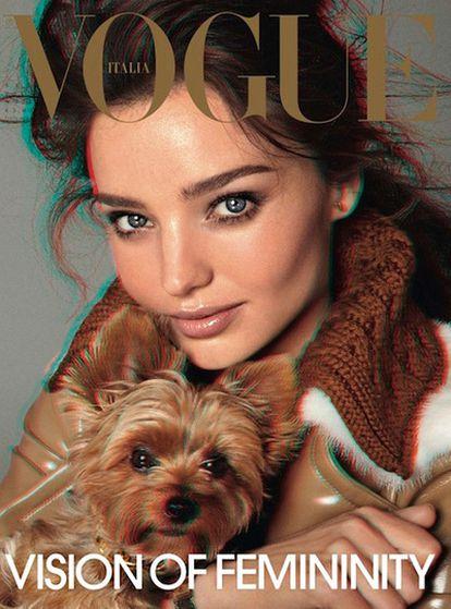 La portada del número de septiembre de la publicación italiana, dedicada a la modelo australiana, Miranda Kerr.