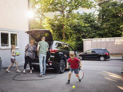 El coche eléctrico se carga en casa