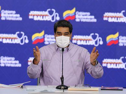 El mandatario venezolano, Nicolás Maduro, durante una conferencia de prensa el pasado 14 de mayo.