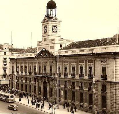 Fachada de la antigua Dirección General de Seguridad en la Puerta del Sol de Madrid.