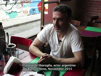 El actor Leonardo Sbaraglia.