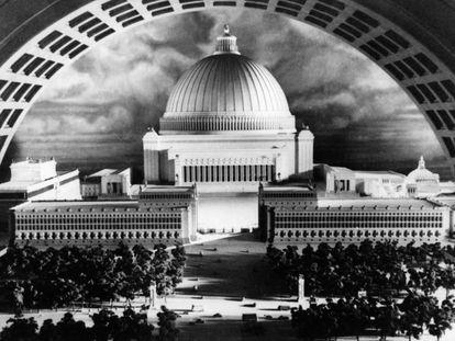 El Capitolio que Adolf Hitler diseñó junto a su arquitecto, Albert Speer, como pieza central de la nueva capital del mundo, Germania.