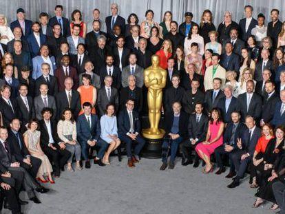 Foto oficial de los nominados en la 91 edición de los premios Oscar.