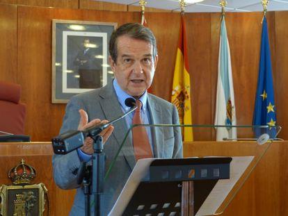 Rueda de prensa de Abel Caballero como alcalde de Vigo.
