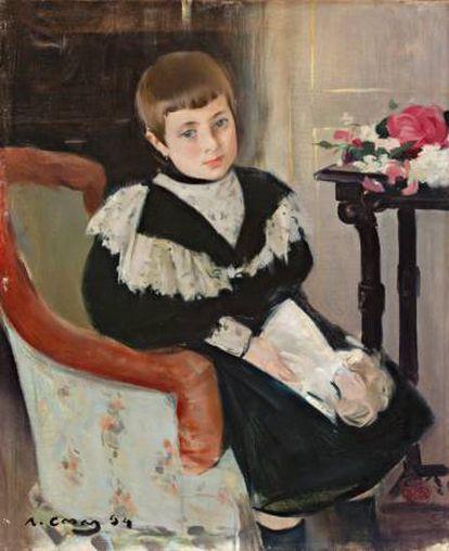 'Retrato de la niña María Navas' (1894), de Ramón Casas.