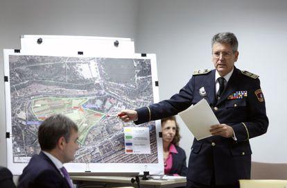 El inspector jefe de la Policía Municipal de Madrid, Emilio Monteagudo, en la comisión de investigación.