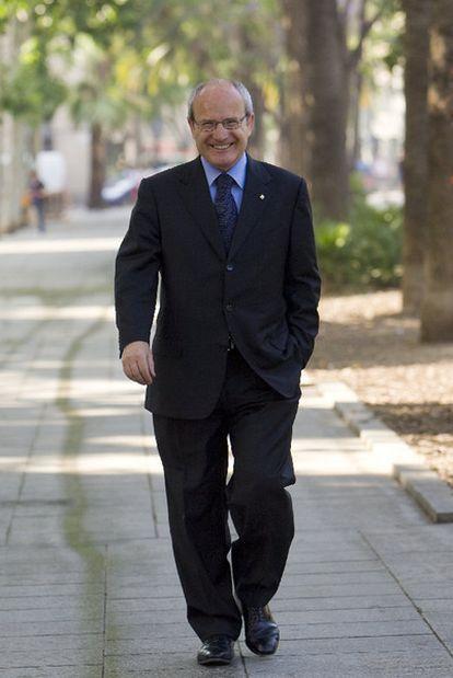 José Montilla, en la rambla del Raval de Barcelona.
