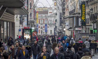 Centro de Madrid, el pasado noviembre.