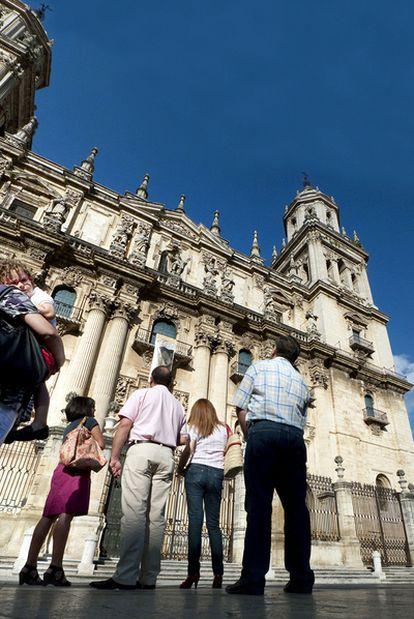 Fachada oeste de la catedral de Jaén