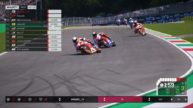 Álex Márquez toma la delantera en la carrera virtual organizada por MotoGP.