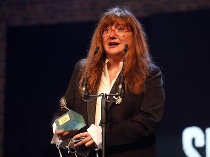 Isabel Coixet recoge la Espiga de Honor en Valladolid.