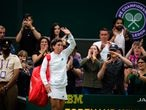 Carla Suarez Navarro of Spain walks off the court after the first round of the 2021 Wimbledon Championships Grand Slam tennis tournament against Ashleigh Barty of Australia AFP7  29/06/2021 ONLY FOR USE IN SPAIN