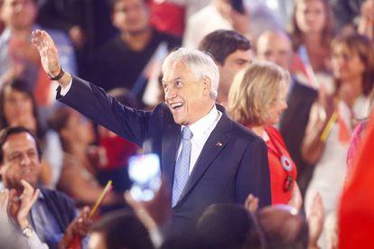 Sebastián Piñera, durante la presentación de su candidatura, el 21 de marzo.