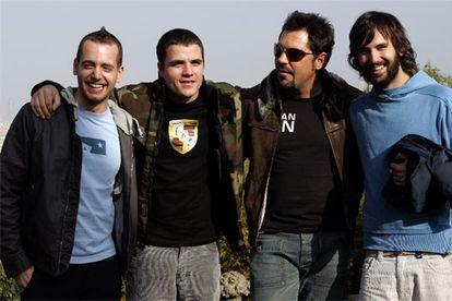 El Canto del Loco a mediados de los años noventa. De izquierda a derecha, Chema Ruiz (bajo), Dani Martín (voz), Jandro Velázquez (batería) y David Otero (guitarra).