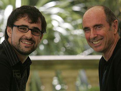 Lluís Danés (a la izquierda) y Lluís Llach.