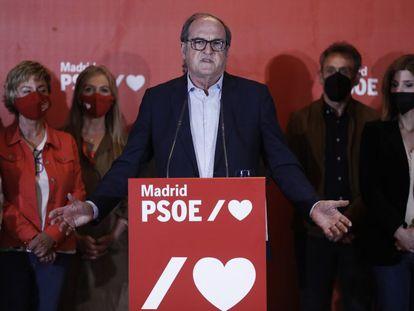 Ángel Gabilondo, en su comparecencia tras las elecciones en la Comunidad de Madrid.