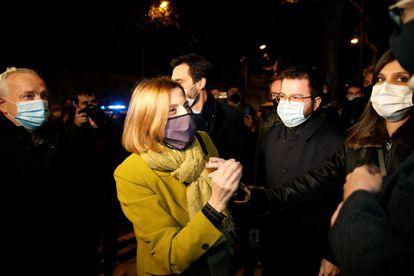 La expresidenta del Parlament Carme Forcadell, antes de volver a entrar en prisión el 4 de diciembre.