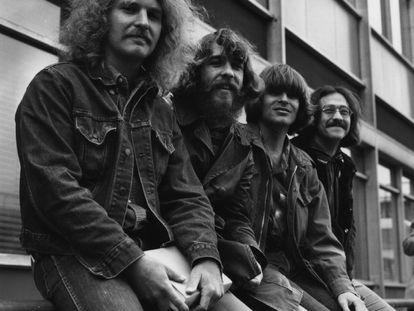 La Creedence Clearwater Revival en Londres, en 1970. De izquierda a derecha, Tom Fogerty, Doug Clifford, John Fogerty y Stu Cook.