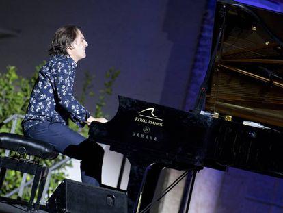 El pianista David Dorantes, en un concierto en el Real Alcázar de Sevilla en 2016.