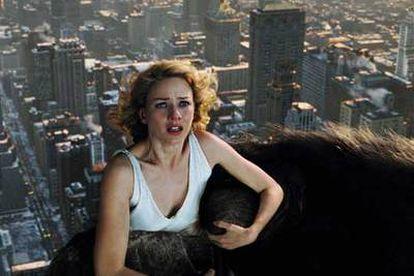 Naomi Watts, en una imagen de <i>King Kong. </i>