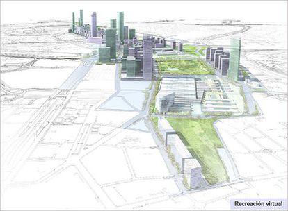 Recreación virtual del proyecto, que estará concluido en 2023.