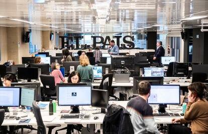 Imagen de la redacción de EL PAÍS, en febrero.