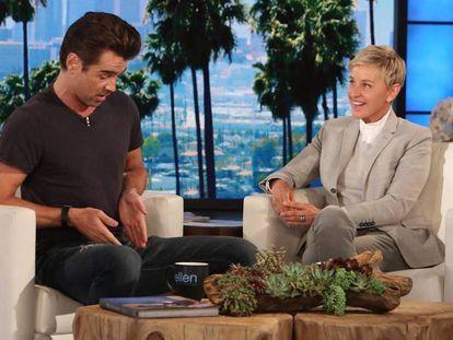 Con sus gestos el actor, en el programa de Ellen Degeneres, no dejó lugar a dudas a la zona a la que se estaba refiriendo.