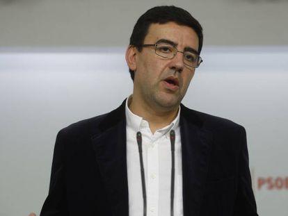 Mario Jiménez, portavoz de la gestora del PSOE.