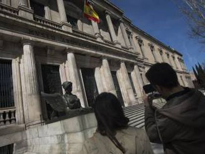 La entrada del Museo Arqueológico Nacional en una imagen de archivo.