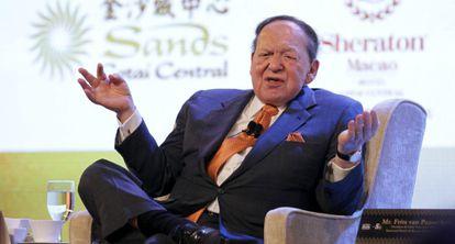 El magnate Sheldon G. Adelson.