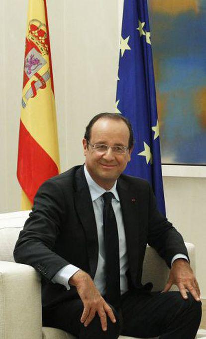 El presidente francés François Hollande en La Moncloa.