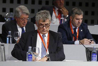 Villar, en la Asamblea de la FEF el 11 de octubre.
