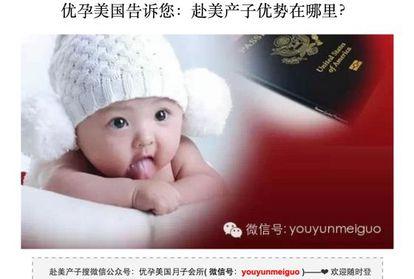 Captura de una web china de 'turismo de maternidad'.